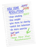 Make, break resolutions. Isolated on white. Stock Photo