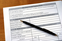 Make the business credit inquiry. From the bank Stock Image
