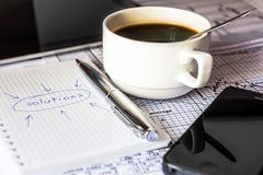 Make a business solutions, work in the office Stock Photo