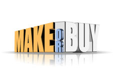Make or Buy. An illustration of make or buy decision Stock Photography