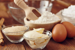 Make a cake. Ingredients to make a cake royalty free stock photography
