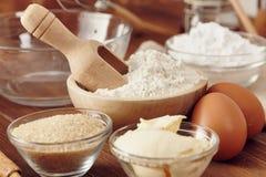 Make a cake. Ingredients to make a cake royalty free stock image