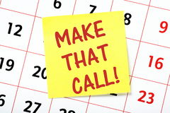 Make That Call! Royalty Free Stock Images
