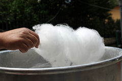 Make candyfloss Stock Image