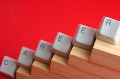 Make a career. Career promotion steps made of keyboard keys Stock Photo