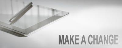 MAKE A CHANGE Business Concept Digital Technology. Graphic Concept. Business Concept Royalty Free Stock Photo
