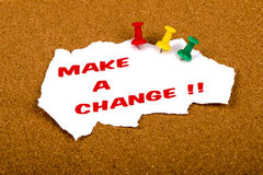 Make a change Stock Photography
