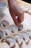 Make chinese cumplings. On close-up Stock Photos