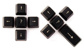 Make a Choice. Concept image - make a choice represented with keyboard keys Royalty Free Stock Photography