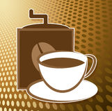Make Coffee Icon Shows Cafeteria Drinks And Icons Stock Image
