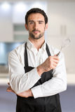 Make Cooker With Apron Smiling Royalty Free Stock Photo