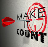 Make It Count Arrow Target Words Succeed Win Important Result Stock Photo
