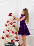 Make this day best holiday ever. Very special time of year. Kid happy because holiday season arrive. Winter holiday. Concept. Family holiday concept. Girl stock photos