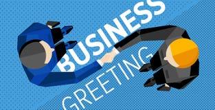 Make a deal. Shaking hands. Make a deal - shaking hands. Top vew. Flat vector royalty free illustration