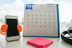 Make an December appointment on calendar Royalty Free Stock Photos