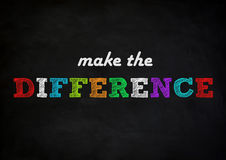 Make the difference. Chalkboard concept Royalty Free Stock Image