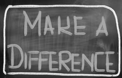 Make A Difference Concept Stock Image