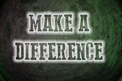Make A Difference Concept Stock Photo