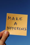 Make a difference. Making a difference and a positive change Royalty Free Stock Image