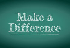 Make a difference message. Written on a blackboard Stock Image