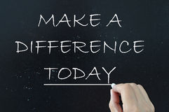 Make a difference Royalty Free Stock Images