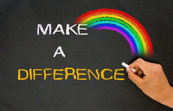 Make a difference. With rainbow Stock Photography