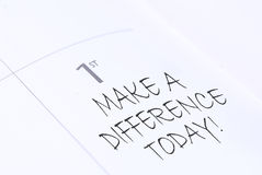 Make a difference Royalty Free Stock Photos