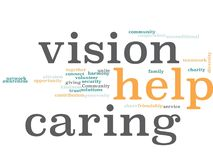 Help Word Cloud. Make a Difference in Your Community Word Cloud vector illustration