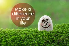 Make difference in your life royalty free stock images