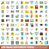 100 make document icons set, flat style. 100 make document icons set in flat style for any design vector illustration Vector Illustration