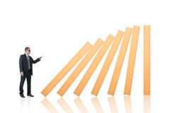 Make a domino effect Royalty Free Stock Images