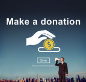 Make a Donation Charity Donate Contribute Give Concept Stock Images
