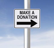 Make A Donation Stock Images