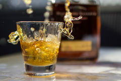 Make it a double. Whiskey on the rocks on a hot day Stock Images