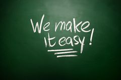 We make it easy Chalk concept Stock Photo