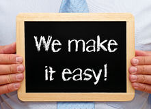 We make it easy sign Royalty Free Stock Images