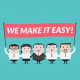 we make it easy sign - Vector Royalty Free Stock Images