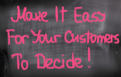 Make It Easy For Your Customers To Decide Concept Stock Images