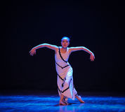 Make an empty show of strength-Errand into the maze-Modern dance-choreographer Martha Graham. In December 19, 2014, Shi Feifei the dancer dance work session held Royalty Free Stock Photo