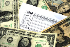 Make enough money to pay income tax. Be sure to make enough money to pay income tax Royalty Free Stock Image