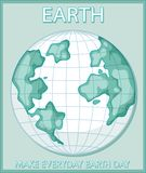 Make everyday earth day poster. Illustration vector illustration