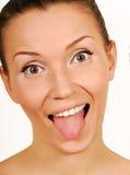 Make faces. Fun. royalty free stock photos