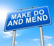 Make faz e emenda. Imagem de Stock Royalty Free