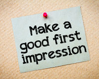 Make a first good impression Stock Photography