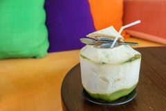 Make freshness with coconut water drink Royalty Free Stock Photography