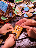Make Gingerbread House. Royalty Free Stock Images