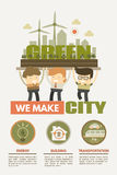 We make green city concept for green city Royalty Free Stock Photography