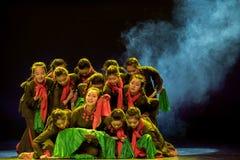 Make ha concertato la danza popolare di simsii-cinese del sforzo-rododendro Fotografia Stock Libera da Diritti
