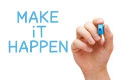 Make it Happen Blue Marker Stock Images