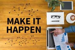 MAKE IT HAPPEN and Make it Happen Change Effect Impactto go royalty free stock photos